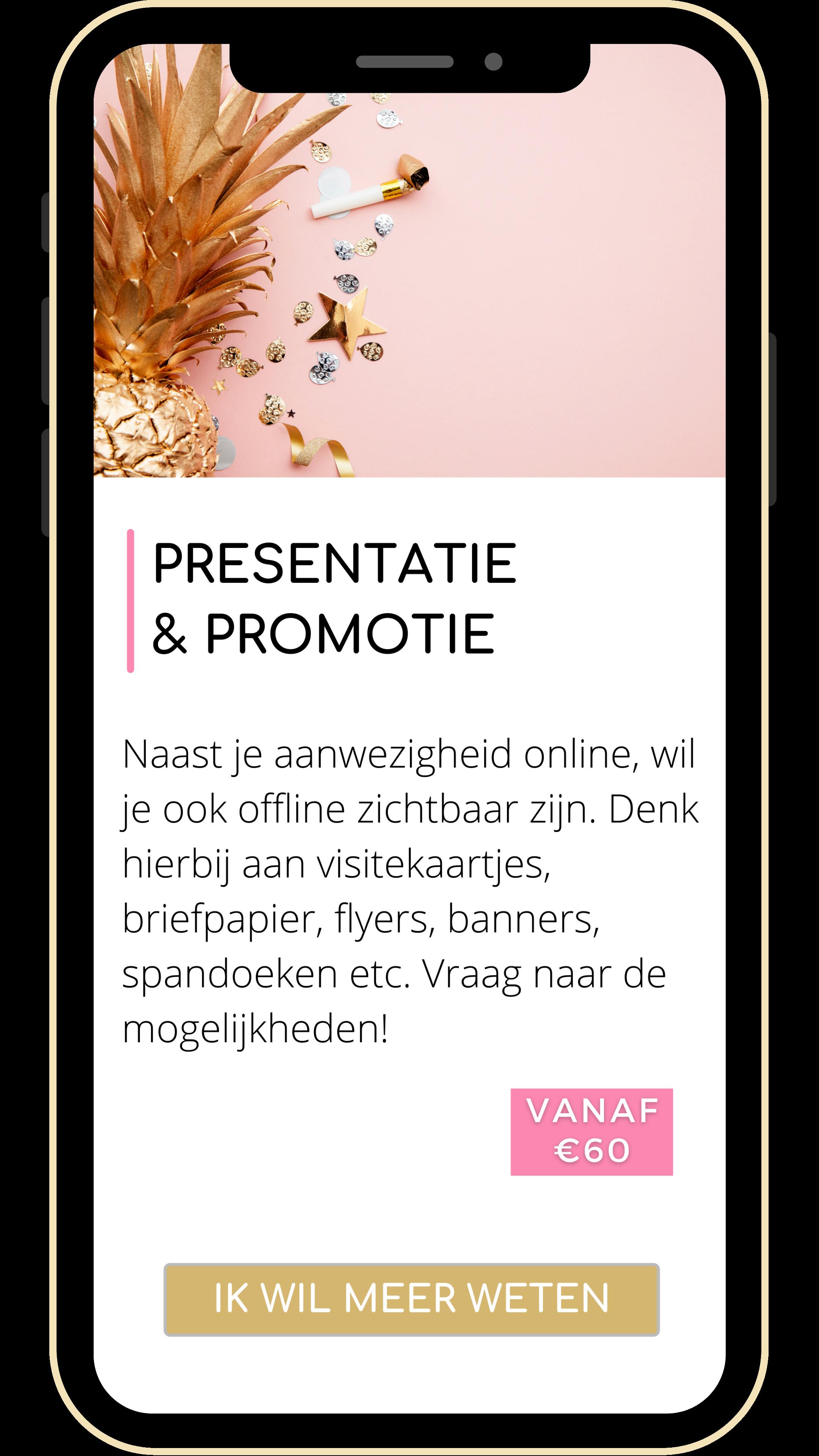 presentatie & promotie